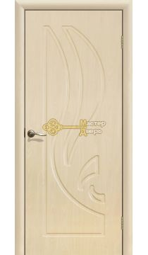 Дверь ПВХ Лилия ПГ, белёный дуб.