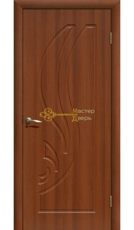 Дверь ПВХ Лилия ПГ, итальянский орех.