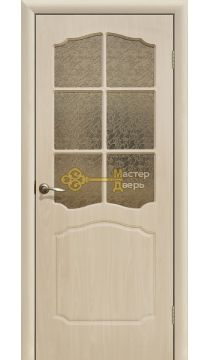 Дверь ПВХ Классика ПО, белёный дуб.