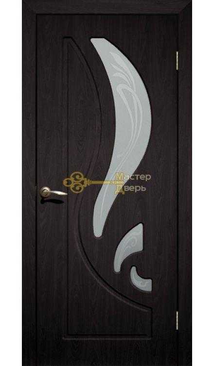 Дверь ПВХ Лилия ПО, венге.