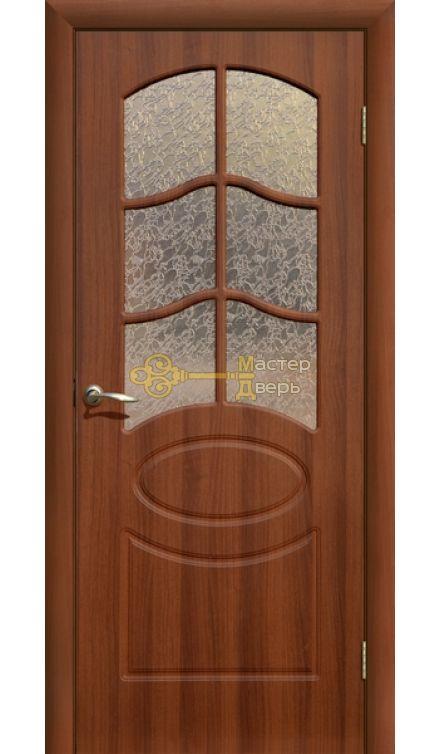 Дверь ПВХ Неаполь ПО, итальянский орех.