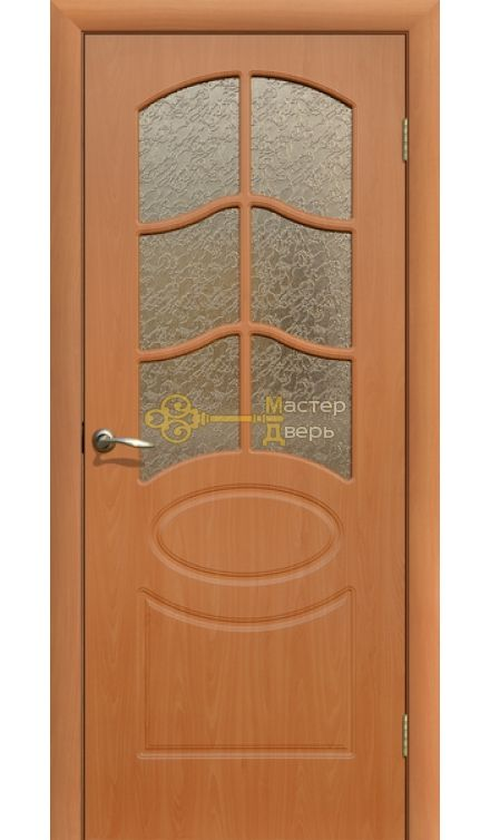 Дверь ПВХ Неаполь ПО, миланский орех.
