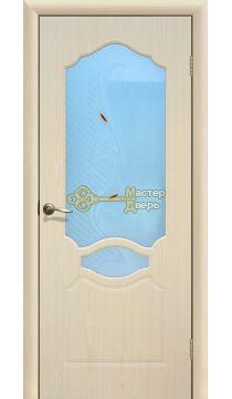 Дверь ПВХ Венеция П0, белёный дуб.
