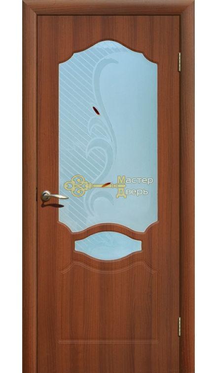 Дверь ПВХ Венеция П0, итальянский орех.