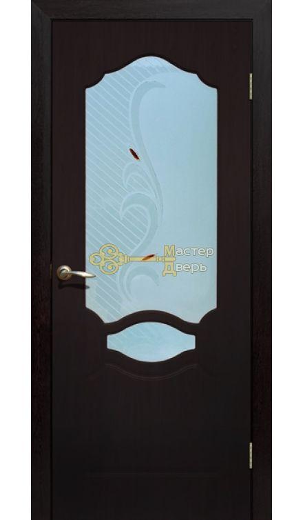 Дверь ПВХ Венеция П0, венге.