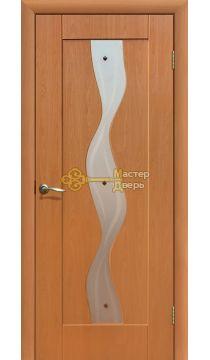 Дверь ПВХ Водопад П0, миланский орех.