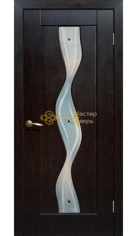 Дверь ПВХ Водопад П0, венге.