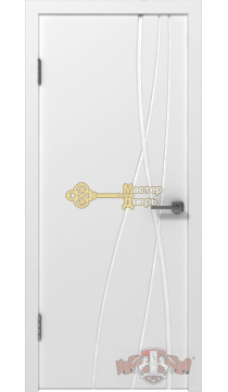 Владимирская фабрика дверей Авангард Т1 24ДГ0. Цвет белая эмаль, глухая.