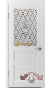 Владимирская фабрика дверей Честер 15ДО0. Стекло белое, цвет белая эмаль.