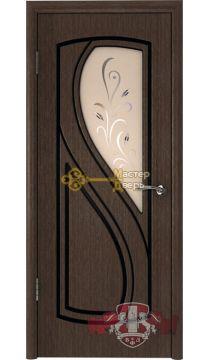 Владимирская фабрика дверей Грация 10ДО4. Венге, остекленная.