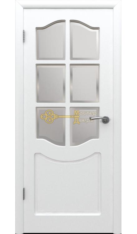 Владимирская фабрика дверей Классика 2ДР0. Цвет белая эмаль, остекленная.