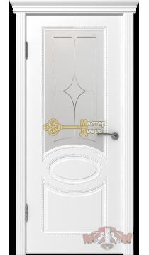 Владимирская фабрика дверей Оксфорд 29ДО0. Цвет белая эмаль, остекленная.