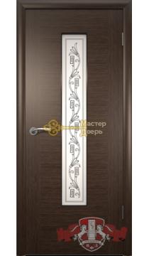Владимирская фабрика дверей Рондо 8ДО4. Цвет венге, остекленная.