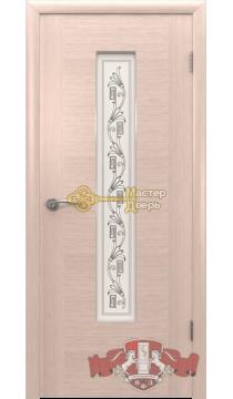 Владимирская фабрика дверей Рондо 8ДО5. Цвет беленый дуб, остекленная.
