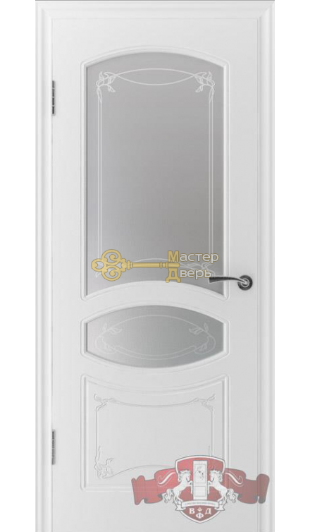 Владимирская фабрика дверей Версаль 13ДР0. Цвет белая эмаль, остекленная.