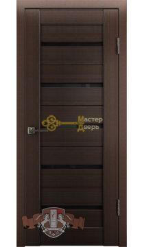 Владимирская фабрика дверей Лайн-1 Л1ПГ4. Стекло чёрное, цвет венге.