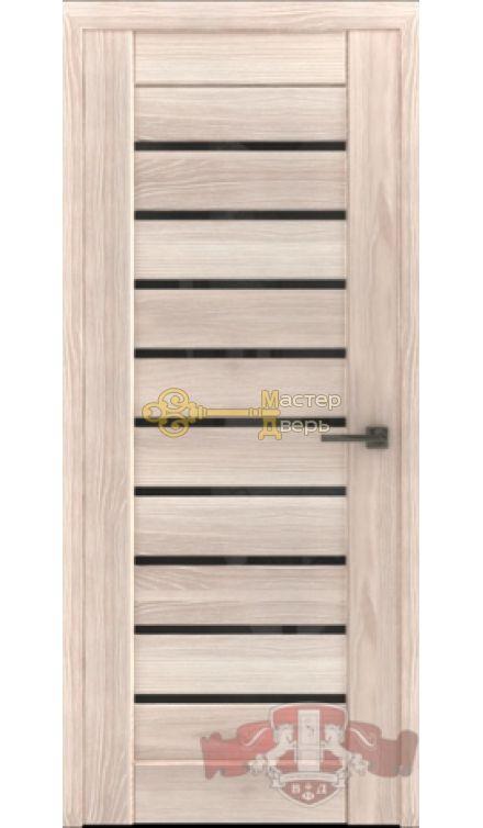 Владимирская фабрика дверей Лайн-3 Л3ПГ1. Стекло чёрное, цвет капучино.