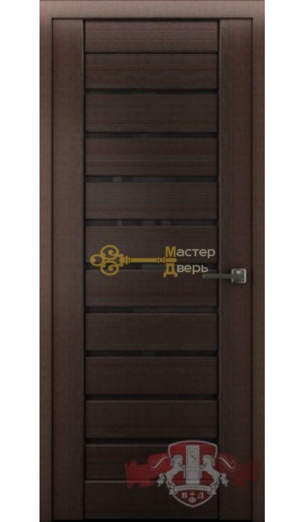 Владимирская фабрика дверей Лайн-3 Л3ПГ4. Стекло чёрное, цвет венге.