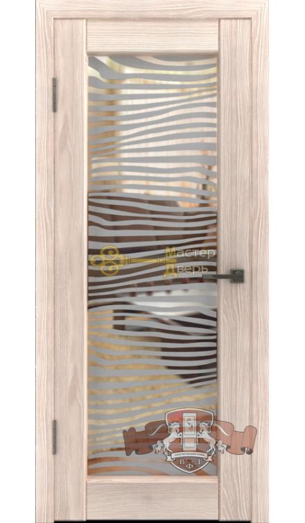 Владимирская фабрика дверей Лайн-8 Л8ПО1. Триплекс бронза (Зебра), цвет капучино.