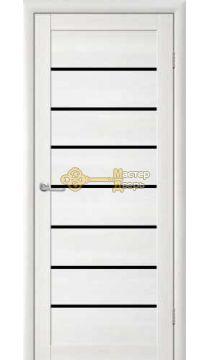 Дверь TrendDoors TDT-1 стекло чёрное, цвет лиственница белая.