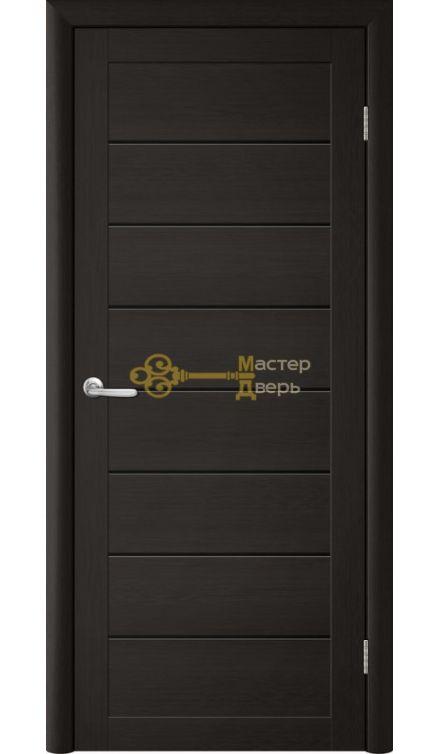 Дверь TrendDoors TDT-1 стекло чёрное, цвет лиственница тёмная.