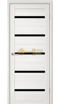 Дверь TrendDoors TDT-2 стекло чёрное, цвет лиственница белая.