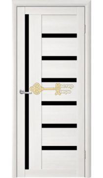 Дверь TrendDoors TDT-3 стекло чёрное, цвет лиственница белая.