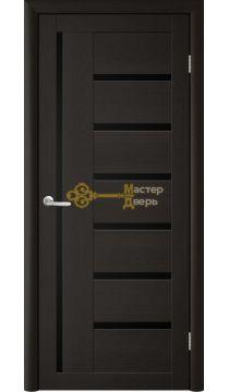 Дверь TrendDoors TDT-3 стекло чёрное, цвет лиственница тёмная.