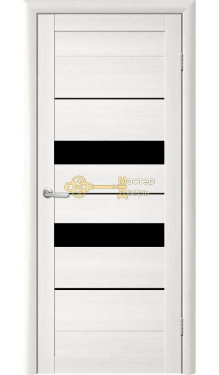 ДверьTrendDoors TDT-4 стекло чёрное, цвет лиственница белая.