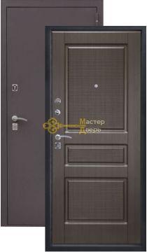 Дверь Алмаз, Аметист, 2 замка, 1,5мм сталь, (чёрный шёлк+венге)