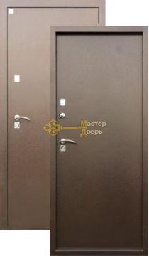 Дверь Алмаз, Яшма Термо, 2 заика, 1,5мм сталь, (медь антик)