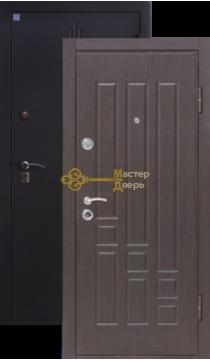 Дверь Алмаз, Топаз 2, 2 заика, 1,5мм сталь, (чёрный шёлк+венге)