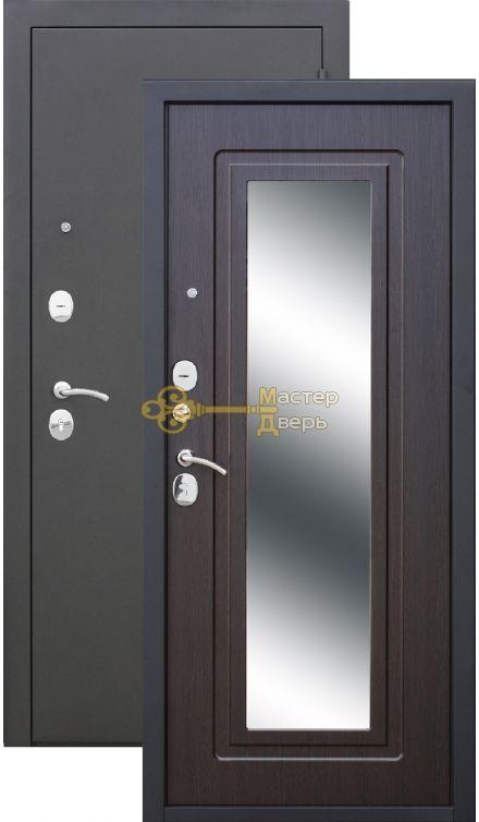 Царское Зеркало. 2 замка, 1,2 мм металл, чёрный муар+венге.
