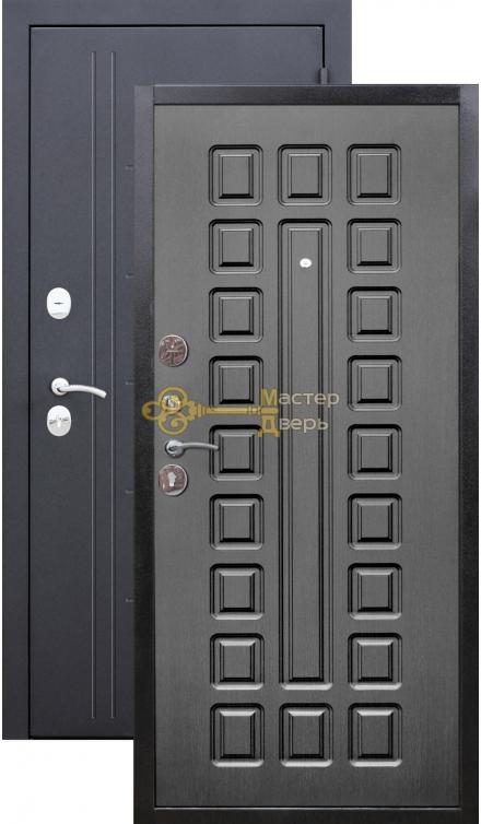 Троя 10 см. 2 замка, 1,4 мм металл, чёрный шёлк+венге.