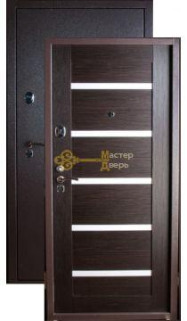 Дверь Falko, Конструктор М-4, 2 замка, 2мм сталь, (капучино+венге)