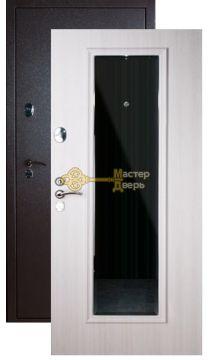 Дверь Falko, Конструктор М-3, 2 замка, 2мм сталь, (капучино+белый ясень)