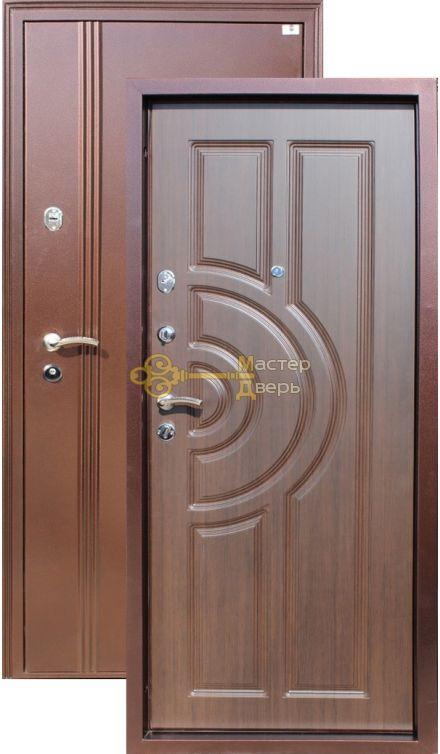 Дверь Город Мастеров, Ангара, 2 замка, 1,5мм сталь, (медь антик+венге)