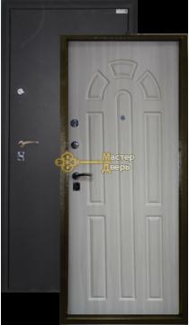 Дверь Город Мастеров, Дон, 2 замка, 1,5мм сталь,(чёрный шёлк+белёный дуб)