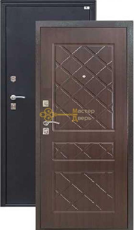Дверь Город Мастеров, Виктория, 2 замка, 1,5мм сталь, (чёрный металлик+венге)