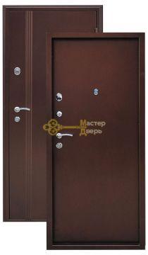 Дверь Город Мастеров, Иртыш, 2 замка, 1,5мм сталь (медь антик+медь антик)