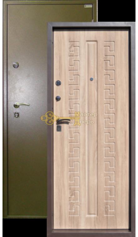 Дверь Город Мастеров, Печора, 2 замка, 1,5мм сталь, (капучино+вяз рифлёный)