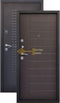 Дверь Город Мастеров, Салют, 2 замка, 1,5мм сталь, (чёрный металлик+венге)