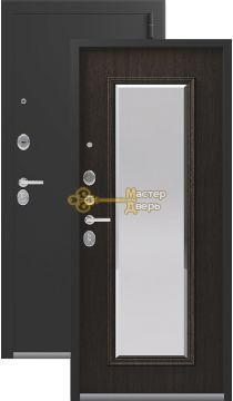Тёплая входная дверь Легион L-1.  2 замка, 1,5 мм металл, серебро антик+орех премиум.