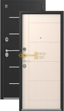 Тёплая входная дверь Легион L-2. 2 замка, 1,5 мм металл, чёрный шёлк+каньон.