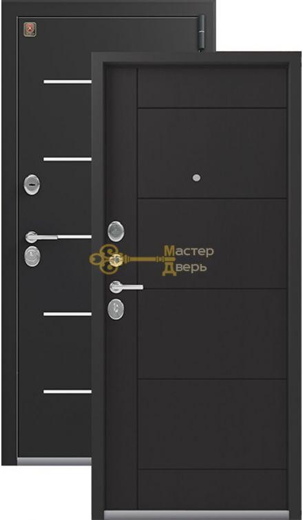 Тёплая входная дверь Легион L-2. 2 замка, 1,5 мм металл, чёрный шёлк+венге шоколад.