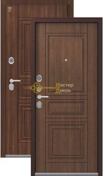 Тёплая входная дверь Легион L-4, 2 замка.1,5 мм металл, медный муар+миндаль.