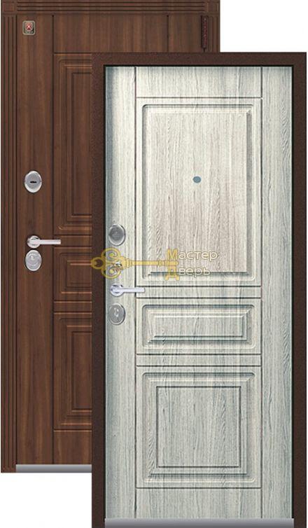 Тёплая входная дверь Легион L-4, 2 замка. 1,5 мм металл,медный муар+полярный дуб.