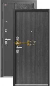 Тёплая входная дверь Легион L-7. 2 замка, 1,5 мм металл,серый шёлк+венге табакко.