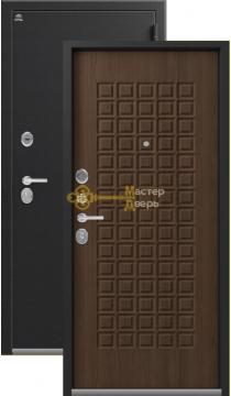 Дверь Сибирь, S-8, 2 замка, 1,2мм сталь, (чёрный крокодил+миндаль)