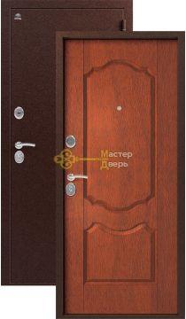 Дверь Сибирь, S-1\1, 2 замка, 1мм сталь, (медь+итальянский орех)